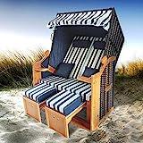 BRAST Strandkorb Deluxe 2-Sitzer XXL für 2 Personen 120cm breit mehrere Designs incl....