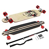 MARONAD Longboard Drop Through Race Cruiser ABEC-11 SKULL und der MARONAD STICK