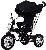Tragbarer, leichter Baby-Kinderwagen, 4-in-1-Dreirad, Kinderdreirad, Dreirad für...
