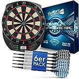 DartPro Dartscheibe elektronisch - Dartboard mit 6 Darts [kabellos nutzbar] - Innovativer...