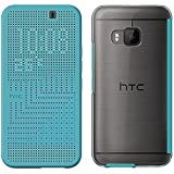 HTC Dot View Ice Premium Hülle Case Cover für HTC One M9 - Türkis