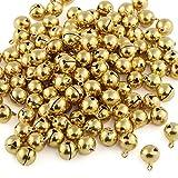 Naler 120 Stück Glöckchen Golden Schellen Glocken aus Kupfer für Schmuck Basteln...