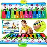 MalPlay Musikmatte | Kinder Klaviermatte Tanzmatte | Keyboard mit 8 Instrumente und 10...