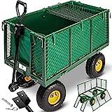 KESSER® Bollerwagen 550kg belastbar Gartenwagen Transportwagen Gartenkarre herausnehmbare...