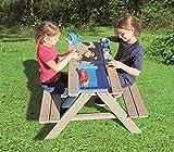 Sand- Wasserspieltisch Kindersitzgarnitur/Massivholz Tisch mit Sitzbänken Abnehmbarer...