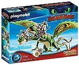 PLAYMOBIL DreamWorks Dragons 70730 Dragon Racing: Raffnuss und Taffnuss mit Kotz und...