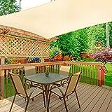 WOKKOL Sonnensegel, Sonnensegel Rechteckig, Sonnensegel Garten, Sonnenschutz Balkon,...