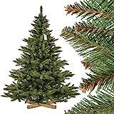 FAIRYTREES Weihnachtsbaum künstlich NORDMANNTANNE, grüner Stamm, Material PVC, inkl....