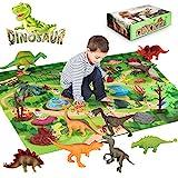 Laelr Dinosaurier Spielzeug Set mit Spielmatte 9PCS Realistische Dinosaurier Figur...