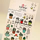 HENJIA Gardening Paper Sticker DIY Dekorativer Sticker für Album Scrapbook Kawaii Stationery Diary Sticker