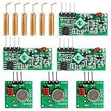 WayinTop 3 Set 433 MHz RF Wireless Transmitter und Empfänger Modul + RF 433 MHz Kupfer...
