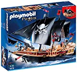 PLAYMOBIL Pirates 6678 Piraten-Kampfschiff inkl. Kanonen, schwimmfähig, ab 4 Jahren