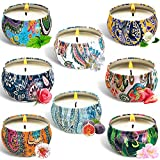 SaiXuan Duftkerze Aroma Kerzen,8PC Duftkerzen Geschenk Set,Aromatherapie Natürliches...