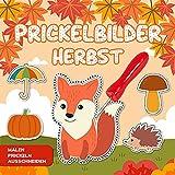 Prickelbilder Herbst: Lustige Herbst Motive zum Malen, Prickeln, Ausschneiden und Basteln...