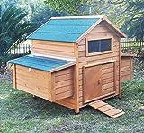 Zoopplier Hühnerstall Hühnerhaus Chickenhouse Nr. 02'Gluckshaus mit legebox und Wanne