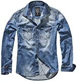 Brandit Denimshirt Riley - Blue - L