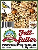 Futterhof Fettfutter 3 x 5 kg = 15 kg, GRATIS Versand mit DHL