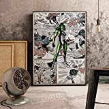 XWArtpic Klassische Cartoon Movie Comic Bild Anime Superheld Superpower Poster Kinderzimmer Wandkunst Wohnkultur leinwand malerei 60 * 80 cm