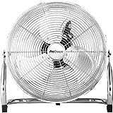 Pro Breeze 50 cm Bodenventilator aus Chrom, Ventilator mit 3 Geschwindigkeitsstufen und...