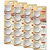 20 Stück CR2032 3V Batterien CR 2032 Knopfzelle (Lithium Knopfzellen - 3 Volt im 20-er...